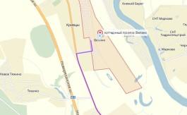 схема КП Велино (на карте Яндекс)