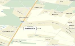 схема КП Янтарный (на карте Яндекс)