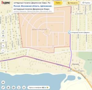 Как добраться карта КП Дворянское Озеро