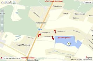 Схема проезда в КП Янтарный