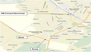 схема КП Кузнецовское Подворье (на карте Яндекс)